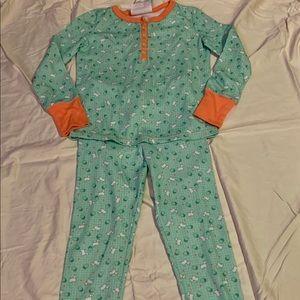 Girls Puppy Print Pajamas